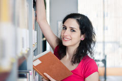 College student in a library Stock Photography