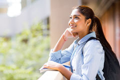 College student looking up Stock Photo
