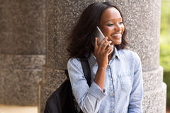 College student phone call Stock Images