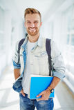College student. Portrait of smiling college student royalty free stock photos