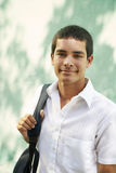 College student-Portrait of young man smiling Royalty Free Stock Image