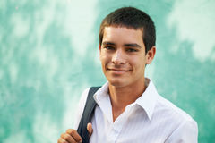 College student-Portrait of young man smiling Royalty Free Stock Photography