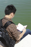 College Student Reading Stock Photo