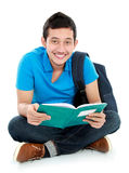College student reading a book Stock Photos