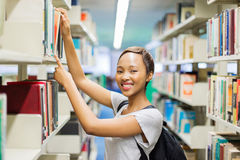 College student searching library Royalty Free Stock Image