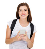 College student smart phone Royalty Free Stock Photos