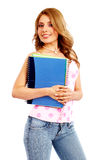 College student smiling Royalty Free Stock Photos