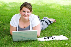 College Student Studying Royalty Free Stock Photo