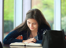 College student studying at school Stock Photography