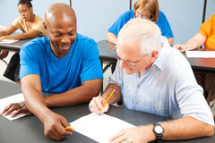 Free College Student Tutors Older Classmate Stock Images - 22904204