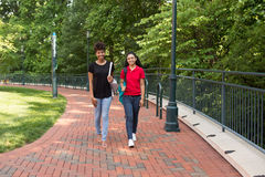 A College student walking on campus Stock Images