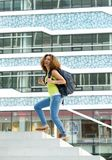 College student walking on campus Stock Photos
