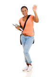 College student waving goodbye Royalty Free Stock Photography