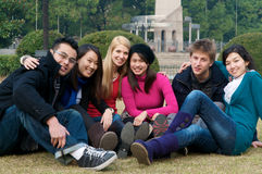 College Students. Group of 6 college students outdoor Stock Images