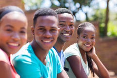 College students on campus royalty free stock photos