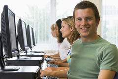College students in a computer lab Stock Photography