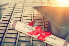 College. Students elearning management abroad academy access stock image