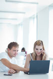 College students having fun studying together Royalty Free Stock Photos