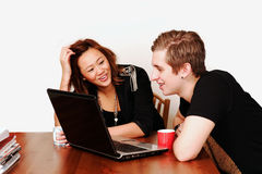 College students internet fun Royalty Free Stock Photo