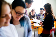 College students on a lecture Royalty Free Stock Photography
