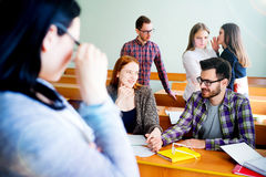 College students on a lecture Stock Image