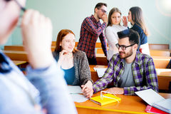 College students on a lecture Stock Photography