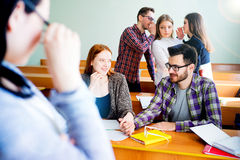 College students on a lecture Stock Photos
