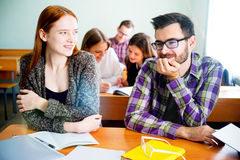 College students on a lecture Royalty Free Stock Images
