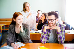 College students on a lecture Stock Images