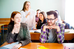 College students on a lecture Stock Photo