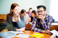 College students on a lecture Royalty Free Stock Photo