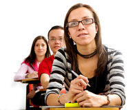 College students in a lesson Royalty Free Stock Image