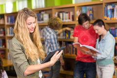 College students in library. Group of college students in the library Royalty Free Stock Photography