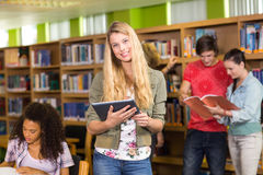 College students in library Stock Photos
