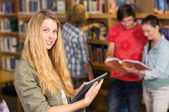 College students in library. Group of college students in the library Royalty Free Stock Images