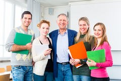 College students passed examination Royalty Free Stock Photos