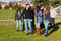 College Students on Relax Royalty Free Stock Photo