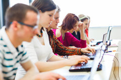 College students sitting in a classroom Royalty Free Stock Image