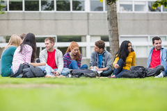 College students sitting in the park Stock Photography