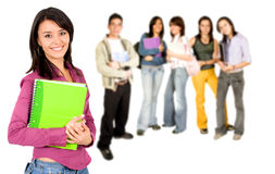 College students smiling Royalty Free Stock Image