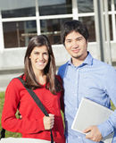 College Students Standing Together On Campus Royalty Free Stock Photo