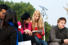 College Students studying Royalty Free Stock Images