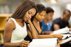 College students studying. Group of african american college students studying together Stock Images