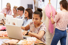 College Students Studying Fashion And Design Royalty Free Stock Photos