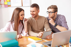 College students studying together at home Stock Photography
