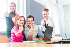 College students in teamwork learning royalty free stock photos