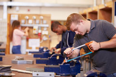 College Students Training To Become Electricians Stock Image