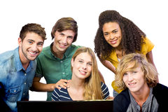 College students using computer Stock Images