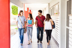 College students walking together Stock Photography