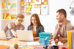 College students working together Stock Image